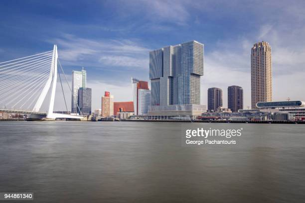 rotterdam and the maas river - rotterdam stock pictures, royalty-free photos & images