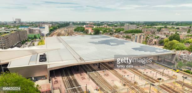 Luchtfoto van Rotterdam Centraal station