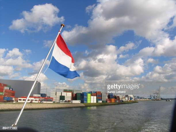 Rotterdam commercial port Containners in Rotterdam port