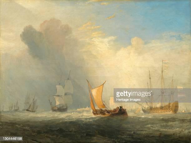 Rotterdam Ferry-Boat, 1833. Artist JMW Turner.