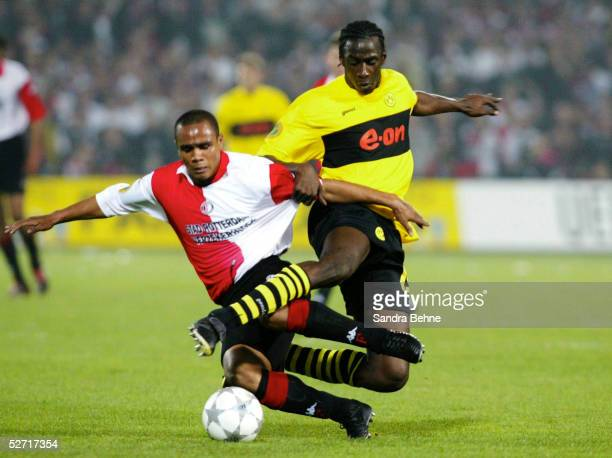 FINALE 2002 Rotterdam FEYENOORD ROTTERDAM BORUSSIA DORTMUND 32 FEYENOORD ROTTERDAM UEFA CUP SIEGER 2002 LEONARDO De Vitor Santiago/ROTTERDAM Otto...