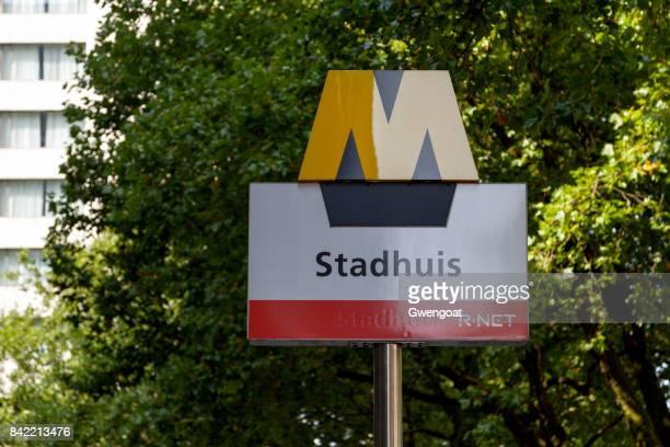 Rotterdam Metro sign