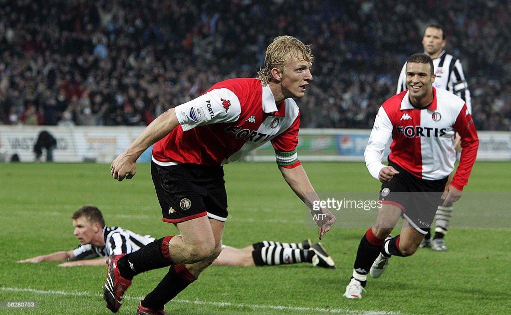 Feyenoord Rotterdam player Dirk Kuyt (L) : News Photo