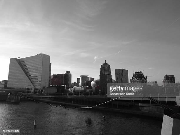 Rotterdam old city skyline