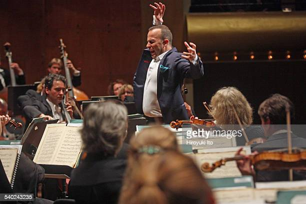 Rotterdam Philharmonic Orchestra performing at Avery Fisher Hall on Sunday afternoon February 22 2015This imageYannick NezetSeguin leading the...