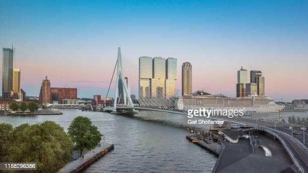 rotterdam port bridge - rotterdam stock-fotos und bilder