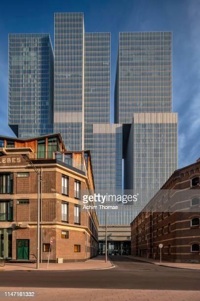 rotterdam skyline, netherlands, europe - neu fotografías e imágenes de stock