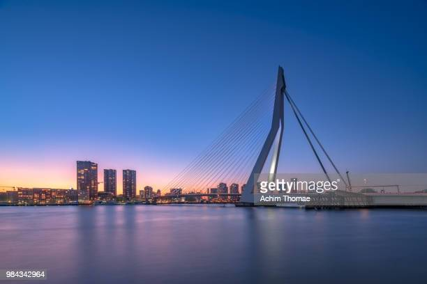 rotterdam skyline, netherlands, europe - rotterdam stock pictures, royalty-free photos & images