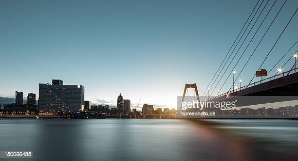 rotterdam willemsbrug - rotterdam stock pictures, royalty-free photos & images