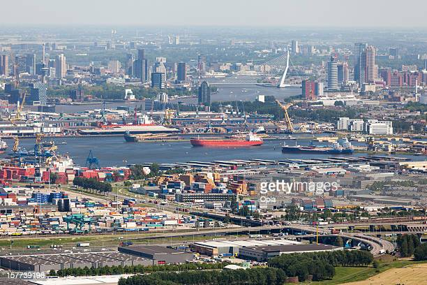 Rotterdam with Waalhaven aerial