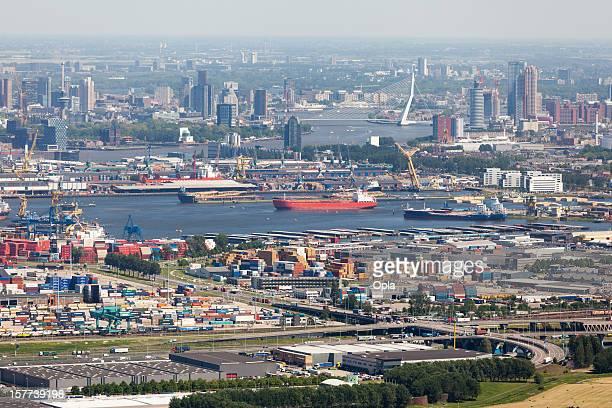 Rotterdam mit Waalhaven Luftaufnahme