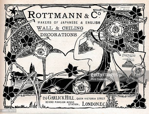 Rottmann Co Makers of Japanese English Wall Ceiling Decorations' 1897 From The Studio Volume 10