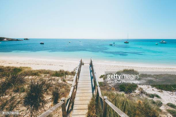 rottnest beach - perth australia stock photos and pictures