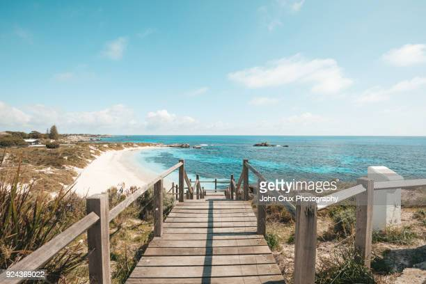 rottnest island walkway - perth australia stock pictures, royalty-free photos & images