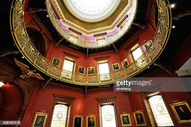 rotunda of new jersey state house - trenton new jersey stock photos and pictures