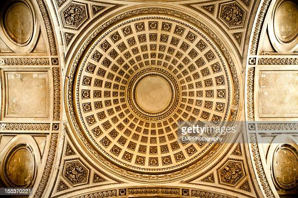 rotunda of the pantheon in paris - rotunda stock pictures, royalty-free photos & images