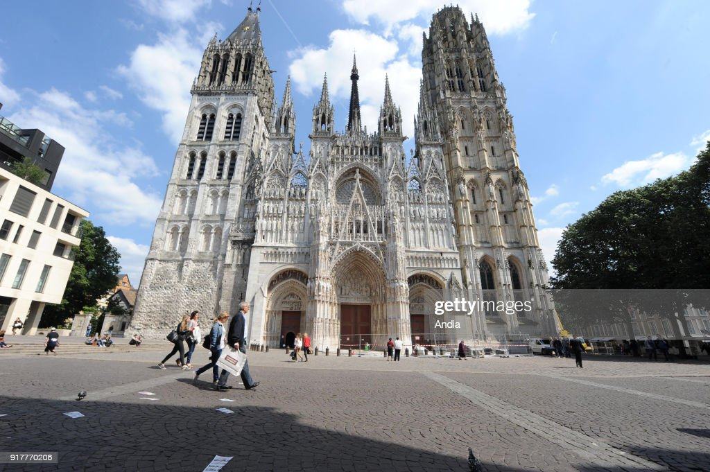 Cathedral of Our Lady of Bayeux. : News Photo