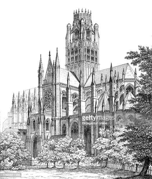 Rouen Cathedral a Roman Catholic church in Rouen Normandy France / RouenKathedrale eine römischkatholische Kirche in Rouen Normandie Frankreich...