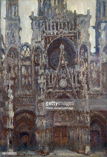 Rouen Cathedral the Portal harmony in brown Painting by Claude Monet 1892 107 x 073 m Orsay Museum Paris