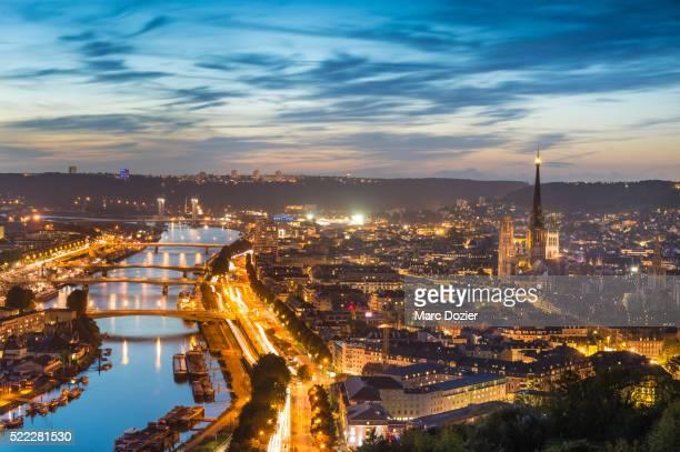 rouen city view - rouen stock pictures, royalty-free photos & images