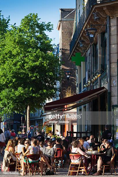 rouen, normandy, cafes - rouen stock pictures, royalty-free photos & images