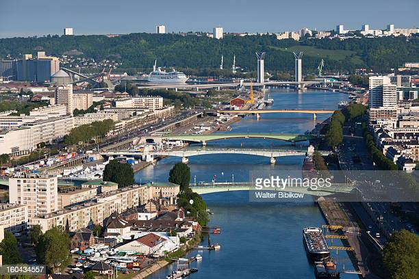 rouen, normandy, city view - rouen stock pictures, royalty-free photos & images