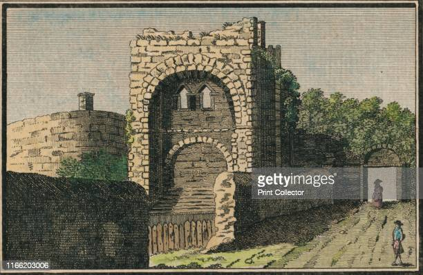 Rougemond Castle at Exeter' 18th century Rougemont Castle also known as Exeter Castle in Exeter Devon dates from 1068 and was built into the northern...