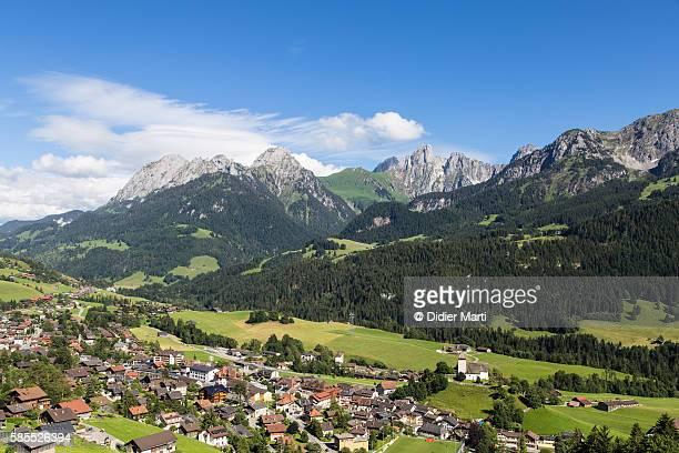 Rougemont in the alps in Canton of Vaud in Switzerland