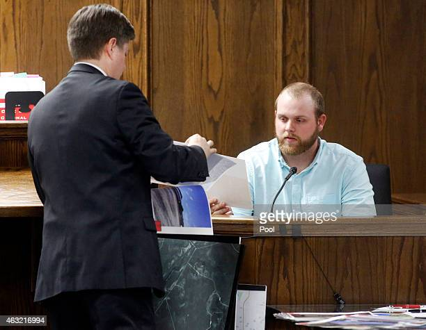 Rough Creek Lodge and Resort former employee Justin Nabours testifies before Erath County District Attorney Alan Nash during the capital murder trial...