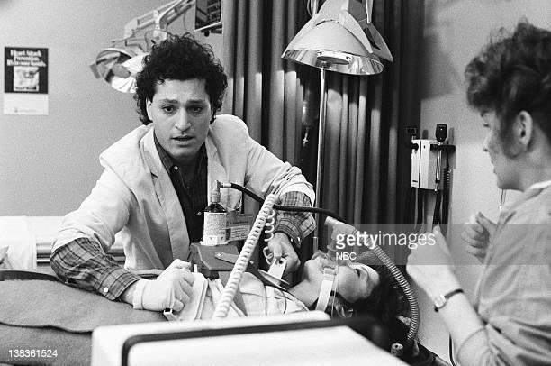 "Rough Cut"" Episode 21 -- Pictured: Howie Mandel as Doctor Wayne Fiscus, Kim Miyori as Doctor Wendy Armstrong, Sagan Lewis as Doctor Jacqueline Wade"