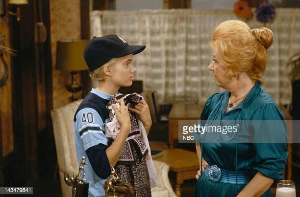 "Rough Housing"" Episode 1 -- Airdate -- Pictured: Julie Anne Haddock as Cindy, Charlotte Rae as Mrs. Edna Ann Garrett"
