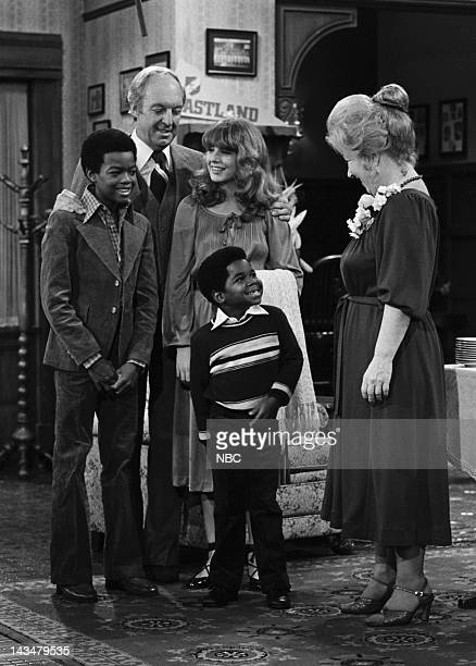 LIFE Rough Housing Episode 1 Aired 8/24/79 Pictured Todd Bridges as Willis Jackson Conrad Bain as Phillip Drummond Dana Plato as Kimberly Drummond...