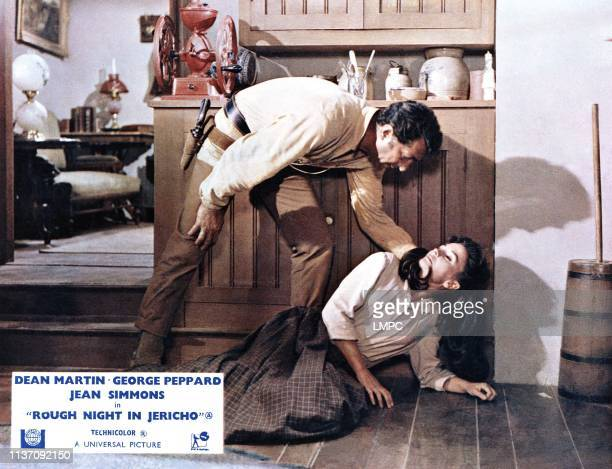 Rough Night In Jericho, lobbycard, from left: Dean Martin, Jean Simmons, 1967.