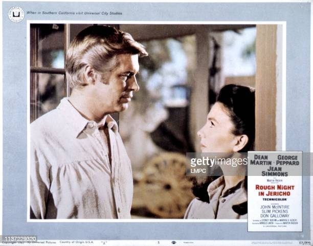 Rough Night In Jericho, lobbycard, George Peppard, Jean Simmons, 1967.