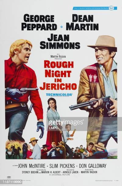 Rough Night In Jericho, poster, US poster art, from left: George Peppard, Jean Simmons, Dean Martin, 1967.