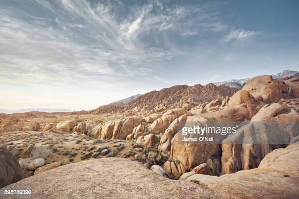 Rough rocky landscape with foreground plateau, Alabama Hills