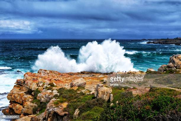 Rough sea  in Hermanus,South Africa