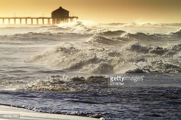 rough sea - california flood stock photos and pictures