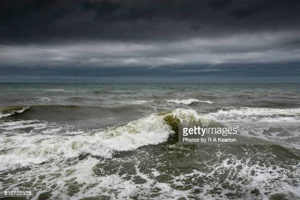 rough sea - north sea stock photos and pictures