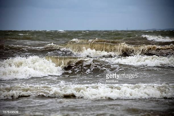 Rough sea up close