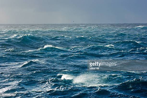 rough seas, southern atlantic ocean - atlantik stock-fotos und bilder