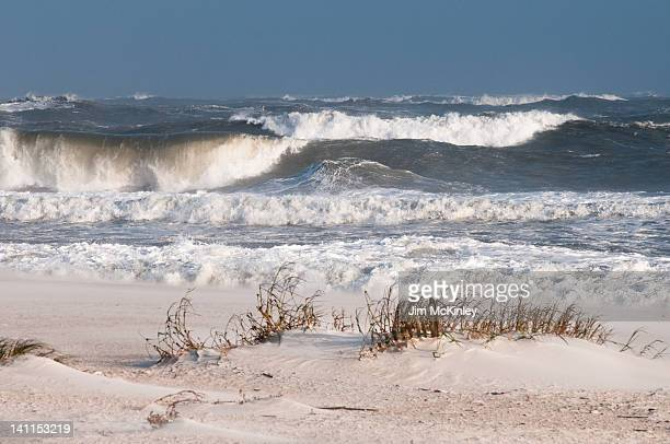 Rough surf from Hurricane Ike