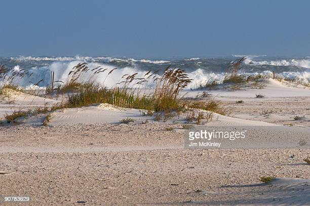 rough surf from hurricane ike - gulf shores alabama stock pictures, royalty-free photos & images