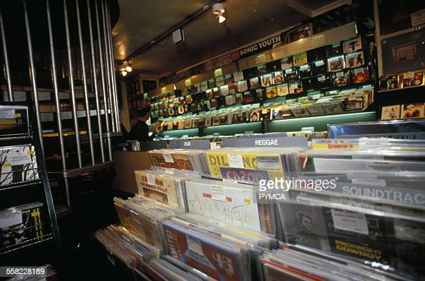 Rough Trade record store Covent Garden London UK 1990s