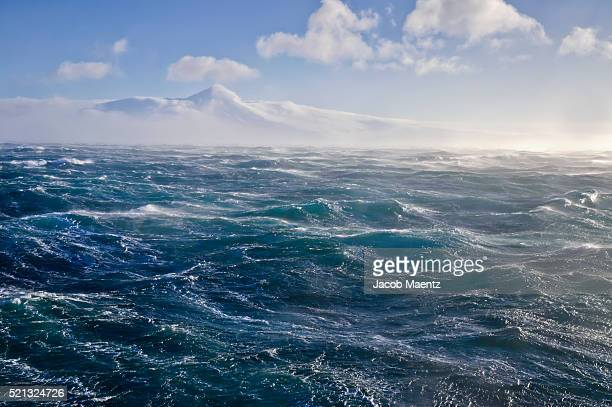 Rough water on the Bering sea