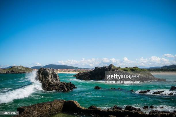 Rough waves in the sea landscapes Cantabria