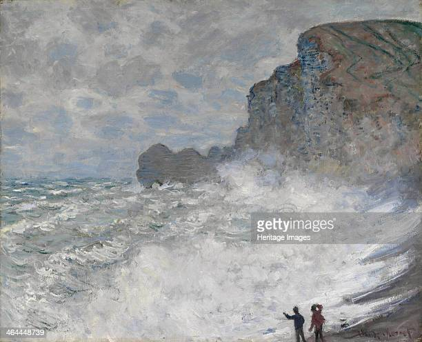 Rough weather at Étretat 1883 Found in the collection of the National Gallery of Victoria Melbourne
