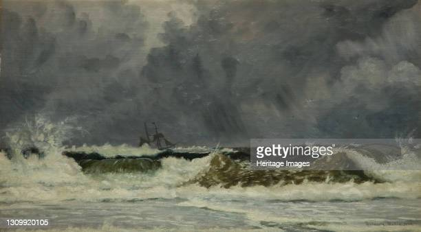 Rough Weather - The Coast Of Jutland, 1884. Sir Whitworth Wallis was the first Director of Birmingham Museum and Art Gallery from 1885. Artist...
