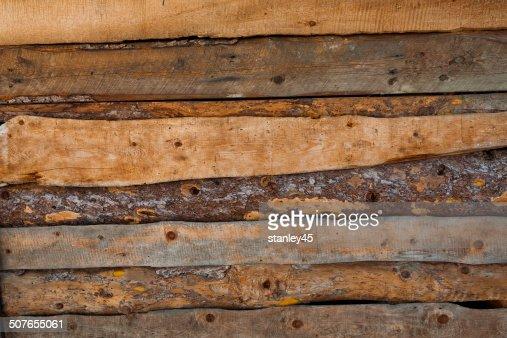 Sfondo Della Parete In Legno Grezzo Foto stock  Getty Images