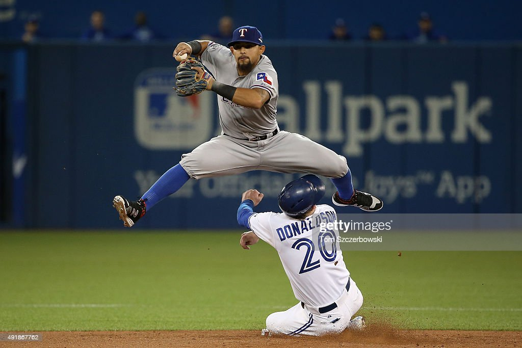 Division Series - Texas Rangers v Toronto Blue Jays - Game One